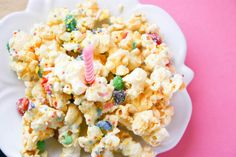 Birthday Cake Popcorn. Will I be making this on October 3rd? Yes. Yes, I will. Oh, the joy of my two greatest loves blended to perfection!