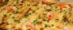 lasanha de camarão