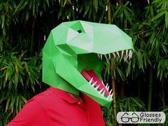 Dinosaur Mask Make Your Own T-Rex Halloween by TetraVariations