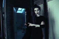 aesthetic, alternative, black clothes, black dress, dark, grunge, horns, indie, mirror, pale, soft grunge, style, violet e