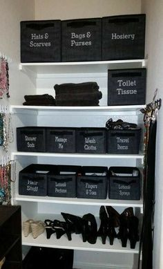 I wish my closet was this organized