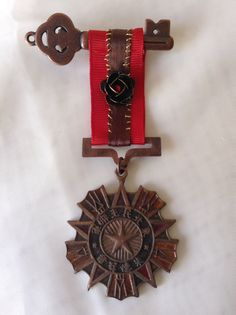 Steampunk Medal Chinese Medal of Honor Key & by TheLooneyLassie, $12.00
