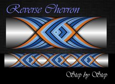 Reverse Chevron Cross Wrap Pattern step by step Custom Rod Building Cross Wrap Pattern Facebook Page
