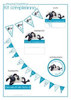 """AmicheCreaAttive: Kit Compleanno """"Shaun the sheep"""""""