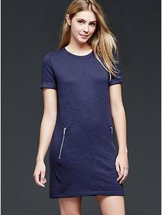 Zipper shift dress @ Gap - cute transition dress for fall