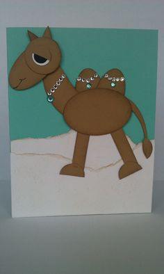 Camel punch art card. Funloving card for someone special.