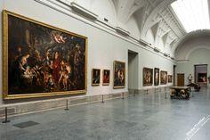 Музей Прадо в Мадриде галереи Museo del Prado Madrid gallery hall