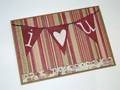 Vintage Look I Love You Card by jenboothe on Etsy, $3.50
