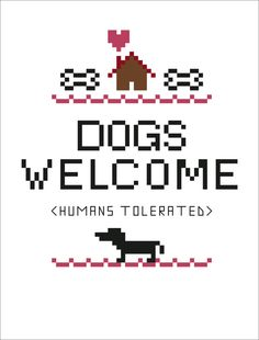 Dogs Welcome Cross Stitch Pattern Instant by Nineteenohsix on Etsy