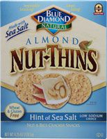 Blue Diamond Natural Almond Nut-Thins® Cracker Snacks Hint of Sea Salt   I like these sometimes, though they taste just like any other rice cracker and I'm rarely in the mood for rice crackers