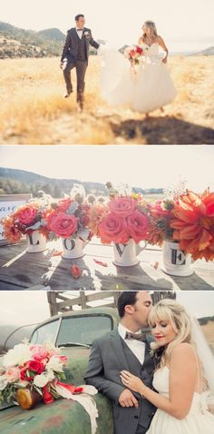I love the warm colors and old car etc. Outdoor Wedding Ideas - Santa Barbara Wedding from Joy de Vivre