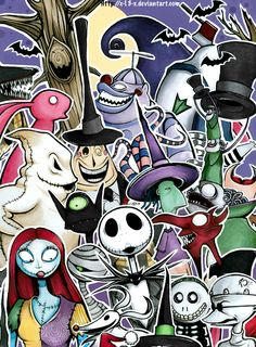 The Nightmare Before Christmas by *x-13-x on deviantART