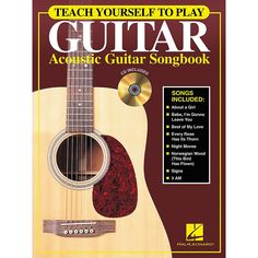 Hal Leonard Teach Yourself to Play Guitar - Acoustic Guitar (Songbook/
