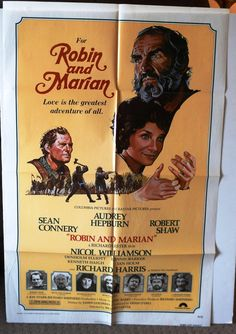 """Movie Poster  """"Robin and Marian""""   Original 1976 Movie Poster One-Sheet by MoviePostersAndMore on Etsy"""