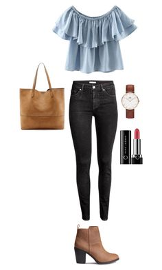 """x"" by lucindachipman on Polyvore featuring WithChic, H&M, Sole Society, Daniel Wellington and Marc Jacobs"