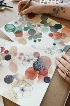 Wild Rose Abstract Watercolour + pen by Laura Horn. The post Wild Rose Abstract appeared first on Crafts. Art Journal Inspiration, Painting Inspiration, Inspiration Quotes, Journal Ideas, Painting & Drawing, Drawing Base, Painting Tools, Pen And Watercolor, Simple Watercolor