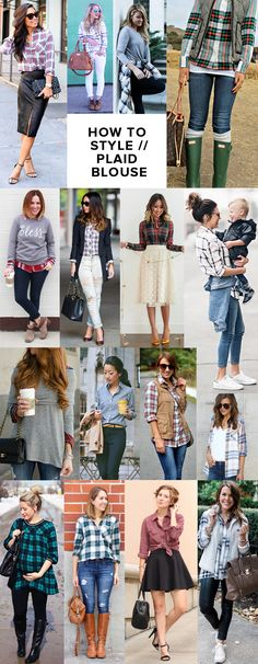 how to style a plaid