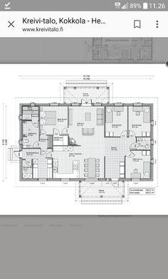 Kreivitalo Floor Plans, Diagram, Home, Ad Home, Homes, Haus, Floor Plan Drawing, House Floor Plans, Houses