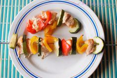 SmykWKuchni: Szaszłyki warzywne z łososiem, CYKL DIETA NISKOKAL...