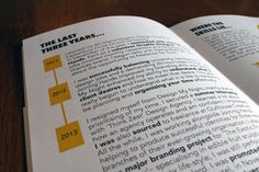 CV & Portfolio Booklet by Luke Sutton, via Behance