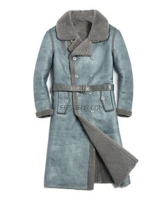 Made of premium Shearling Sheepskin with smooth-suede finished shell and soft and dense wool inner. Knee-length style with long sleeves to match. Mens Fur, Men's Coats And Jackets, Fur Coat, Long Coats, Wool, Derp, Long Sleeve, Tarot, Sleeves