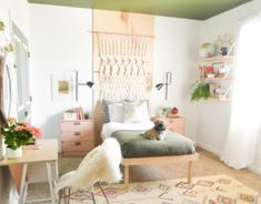 Buttoned Up Boho Bedroom Makeover