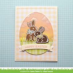 Lawn Fawn Video {3.29.18} Chari's Chocolate Bunny Easter Card - Lawn Fawn