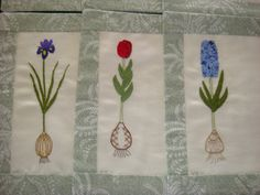 Placemats using surface stitches.