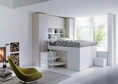 closet inside bed