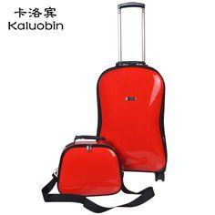 Couro Kaluo Bin Caster PU 24 polegadas 20 polegadas a verificação de bagagem tipo guitarra trole mala em Box-in Picture Bagagem & Malas de Viagem de Bagagem & Bags no Aliexpress.com | Alibaba Group