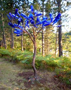 """Blue Bottles For Bottle Tree 