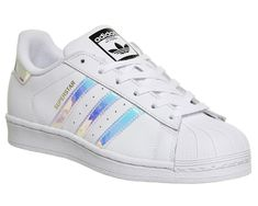 2acdd6d4f6d8d0 Adidas Superstar White Metallic Silver White - Hers trainers