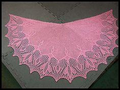 """Tulip Dreams"" semi-circular shawl knit in Cotton Candy fingering weight yarn (100% Peruvian Highland wool), 44"" x 22"" (pattern by AnneLena Mattison), $105."
