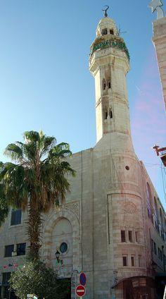 Bethlehem, Palestine-بيت لحم: Omar Ibn Al-Khattab Mosque at Manger Square