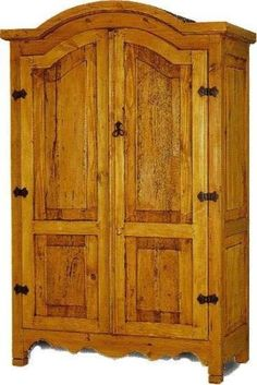 Southwestern-Mexican-Rustic-Wormwood-Armoire-Holds-40-034-TV-Telivison-Cabinet