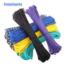 108 colors Paracord 550 Paracord Parachute Cord Lanyard Rope Mil Spec Type III 7Strand 100FT Climbing Camping survival equipment Buy now for $ 12.38   #pintowin #shopping #fashion #style #musthave #ootd #fashionmodel #utilityjacket #falloutfits #falllook #lookbook #ootd #casualoutfit #casualstyle #casualootd #sochic #eshopoly