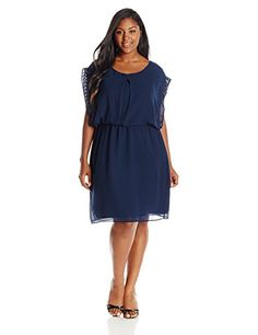 Junarose Womens PlusSize Blobba Short Sleeve Above Knee Dress Black Iris 54 EU US 24 -- Continue to the product at the image link.