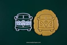 VW Bus cookie cutter printed Volkswagen Van by Readyshapes Bus Vw, Vw Camper, Tiranosaurios Rex, Camping Cookies, Bus Crafts, Useful 3d Prints, Car Cookies, Cookie Pictures, Combi Vw