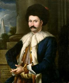 Portrait of the French ambassador to Cairo, A. Patot, unknown artist , esconde half 18th century