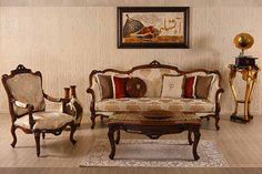 Defne classic sofa set real wood handmade original wood color with different fabric and size options Turkish Furniture, Classic Sofa Sets, Sofa Design, Living Room Sets Furniture, Sofa Design Wood, Classic Sofa, Pink Sofa Living Room, Classic Furniture, Sofa Set