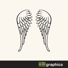 SVG and DXF File - Angel Wings, Nursery, Baby, Silhouette, Clipart, Vector, Instant Download