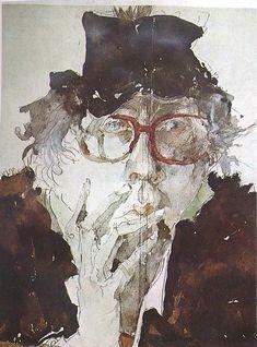 Horst Janssen, Graphic Art, Portraits, Movie Posters, Movies, Painting, Films, Head Shots, Film Poster