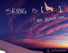 Skiing is .....