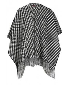 2270d36e97e06 Knitted Monochrome Scarf Wrap – Studio4UK On Trent scarf wrap in dogtooth  print! Perfect addition