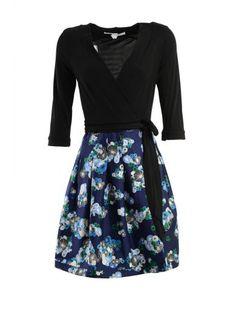DIANE VON FURSTENBERG Diane Von Furstenberg Three-Quarters Sleeve Wrapped Dress. #dianevonfurstenberg #cloth #dresses