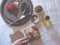 a daily something: recipe | ezekiel bread sandwich