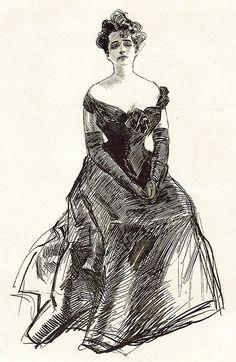 the original gibson girl by charles dana gibson