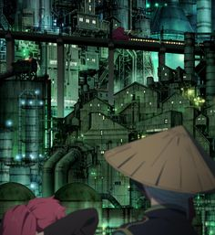 Ao no Exorcist (Blue Exorcist) 2012: Directed by Atsushi Takahashi, Art Directed by Shinji Kimura(Tekkonkinkreet). Created by A-1 Pictures.