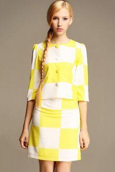 Dreamy Contrast Plaid Suits OASAP.com