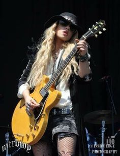 Orianthi / Guitar Queen. She played with the Gregg Allman Band on the Rock Legends Cruise 01/23/16. Good video out of them playing.
